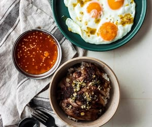 chilli, wagyu beef, and fried egg image