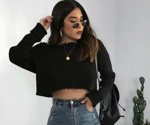 black, girl, and outfits image