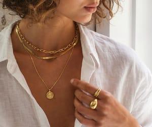 boho, gold chain, and organic image
