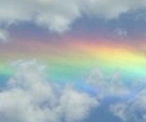aesthetic, header, and rainbow image