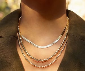 gold, necklace, and baublebar image