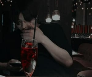 drink, night, and red image