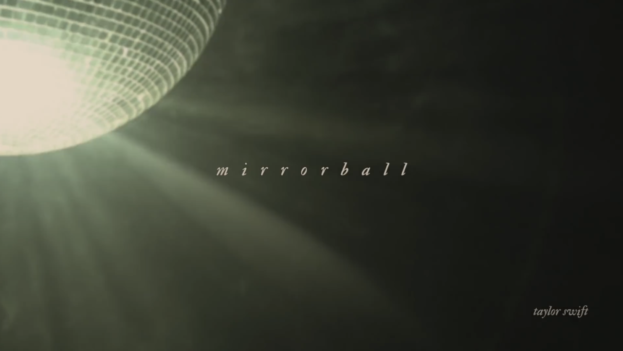 folklore, Taylor Swift, and mirrorball image