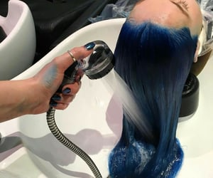awesome hair, blue, and colores image
