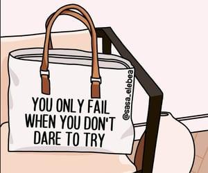 dare, fail, and illustration image