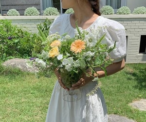 flowers, green, and summer image