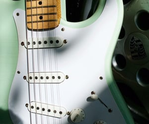 fender, green, and guitars image