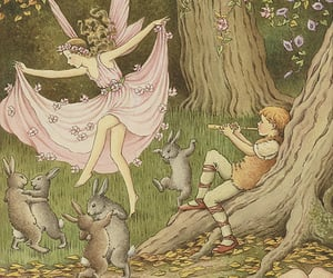 fairy, rabbit, and art image