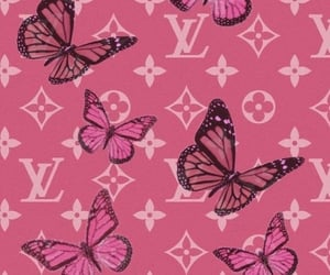 wallpaper, butterfly, and Louis Vuitton image