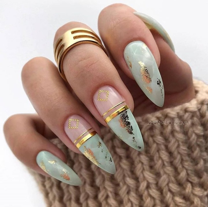 nails, manicure, and woman image