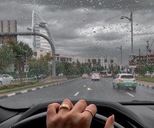 Dubai and rain image