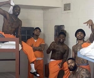 jail, men, and prison image