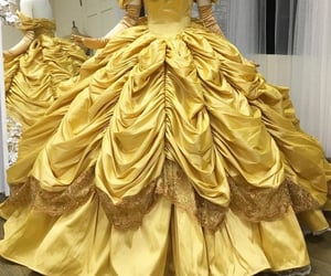 dress, beauty and the beast, and belle image