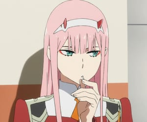 darling in the franxx, anime, and zero two image
