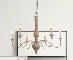 wood chandelier and hand made wood chandelier image