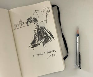 aesthetic, black, and drawing image