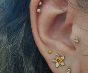 double helix, earrings, and ears image