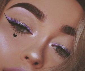 makeup, beauty, and purple image