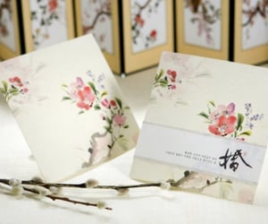invitations, flowers decor, and korean image