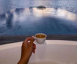 cafe, vacance, and tasse image