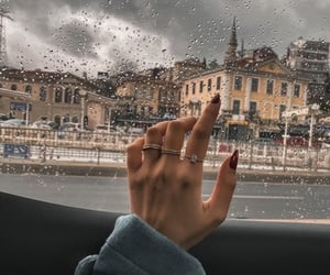 rain, city, and nails image