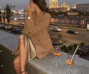drinks, girl, and place image