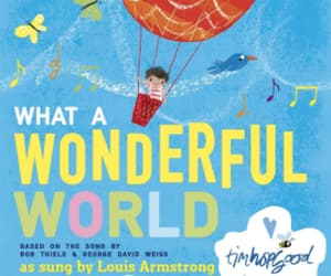louis armstrong, music, and wonderful world image
