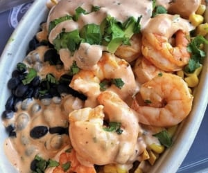 food, shrimp, and beans image