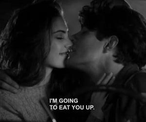 blackandwhite, eat, and Relationship image