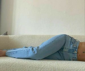 jeans, beige, and blue image