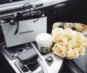 chanel, car, and flowers image