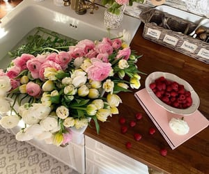 flowers, aesthetic, and berries image