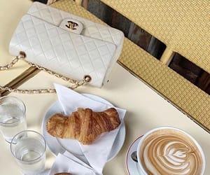 bag, chanel, and coffe image