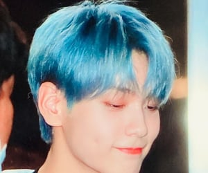 blue hair, kpop, and txt image