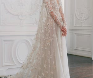 dress, paolo sebastian, and wedding image