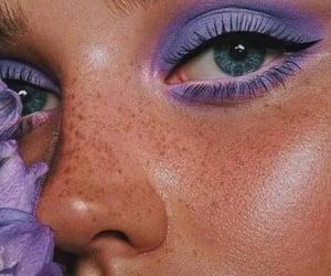 makeup, purple, and beauty image