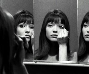 anna karina, black and white, and 60s image