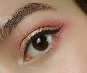 brown, makeup, and red image