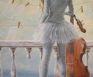 art, ballerina, and paint image