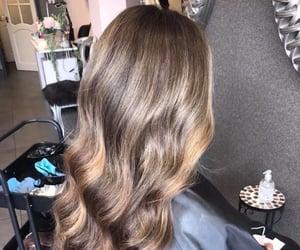 caramel, dye, and hair image