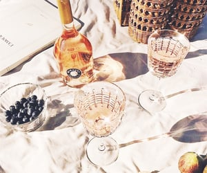 drink, picnic, and wine image