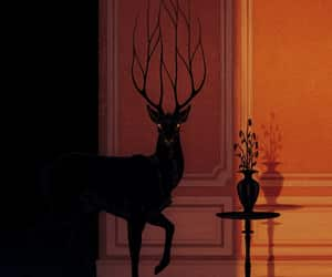 art, deer, and stag image