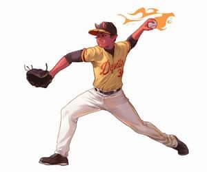 art, baseball, and sport image