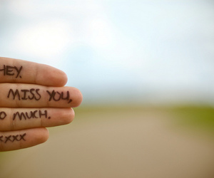 i miss you, miss you, and hand image