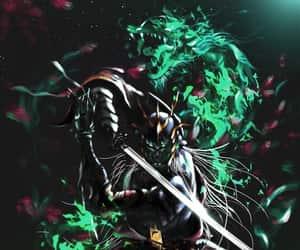 armor, dragon, and sword image