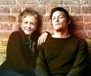 norman reedus, melissa mcbride, and the walking dead image