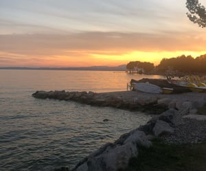happy, italy, and lake image