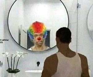 meme, clown, and mood image
