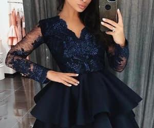 black prom dress, robe de soirée, and sparkly prom dress image