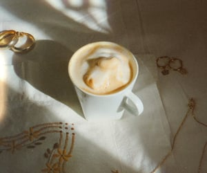 aesthetic, golden, and latte image